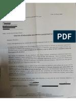 Lettre pour l'école G Dru de l'ARS et de la Ville de Lyon du 29 juin