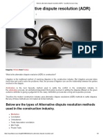 What is alternative dispute resolution (ADR) · Quantity Surveyor blog