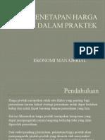 IV.b. PENETAPAN HARGA DALAM PRAKTEK [Autosaved] 4rd.pptx
