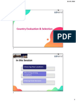 Module 6 - Country Evaluation & Selection