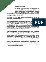 SAP IMPLEMENTATION FLOW