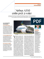 l'airbus A350 enfin prêt àvoler