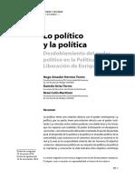 Lo Politico y la Politica Desdoblamiento del Poder Politico