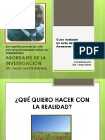 Abordajes de la Investigacion Dr. Jesus Leal Gutiérrez