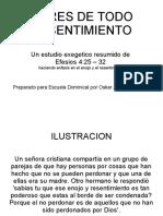 LIBRES DE TODO RESENTIMIENTO