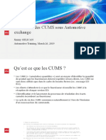 GESTION des CUMS sous Automotive exchange