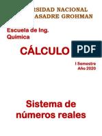 - sistema de numeros reales