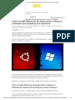 Como corrigir diferenças de tempo entre o Ubuntu e o Windows
