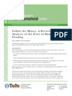 Follow the Money--A Review and Analysis of the State of Humanitarian Funding