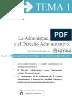 TEMA 1 La Administrivo.ación Pública y el Derecho Administrat