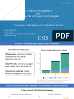 U.S.-China Competition and the Minerals for Green Technologies