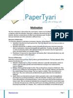 Motivation - Papertyari