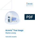 Manual Acronis True Image Home 2009