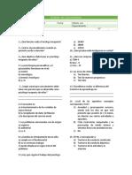 Modelo de Examen de Conocimientos Coordinador de Abastecimiento