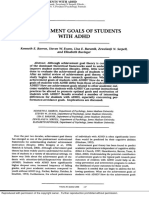 achivement goals of students with adhd