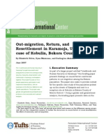 Out-migration, Return, and Resettlement in Karamoja, Uganda--The case of Kobulin, Bokora County
