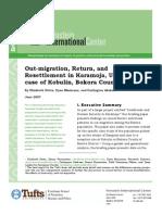 Out-migration, Return, and Resettlement in Karamoja, Uganda--The case of Kobulin, Bokora County