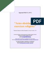 Actes Obsedants Et Exercices-religieux Freud Article