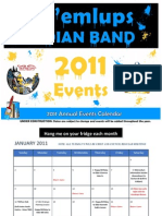 2011 Calendar of Events!