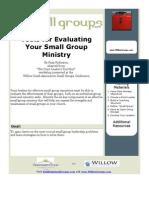 BSG04-ToolsForEvaluatingYourSmallGroupMinistry