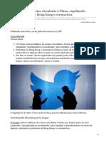 cnbc.com-Twitter destrói contas vinculadas à China espalhando desinformação em Hong Kong e coronavírus