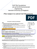 L1 Piles Subject to Lateral Soil Movement
