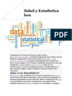 Probabilidad y Estadística con Python