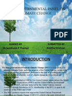 INTERGOVERNMENTAL PANEL ON CLIMATE CHANGE PPT FINAL