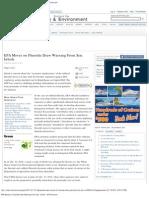 EPA Moves on Fluoride Draw Warning From Sen. Inhofe - NYTimes