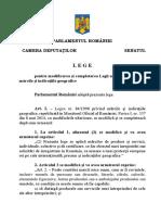 Legea pentru modificarea şi completarea Legii nr. 84/1998 privind mărcile şi indicaţiile geografice