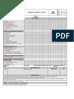 ANEXO IV FORMULARIO DE CHECK LIST DIÁRIO DE VEICULOS E EQUIPAMENTOS PICK - UP
