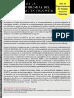 Comunicado Red Nacional de Organizaciones de TS en Colombia