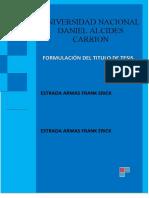FORMULACION DEL TITULO DE TESIS (ESTRADA ARMAS FRANK)