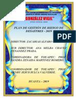 PLAN GESTION DE RIESGO 2019