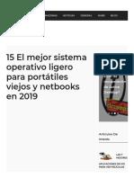 15 El mejor sistema operativo ligero para portátiles viejos y netbooks en 2019