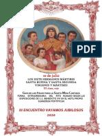 10 de julio. Santos Hermanos Mártires. Guía de los fieles para la santa misa cantada.  Kyrial Angelis