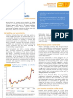 Price Volatility in Agricultural Markets - FAO Dec10