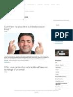 Wordpress Script Webmaster