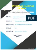 PARÁMETROS GEOMORFOLÓGICOS DE CUENCAS HIDROGRÁFICAS