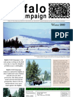 Buffalo Field Campaign 2000 Newsletter