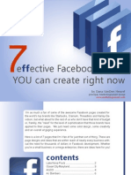 Facebook E-Book - 7 Effective Facebook Pages + 23 Facebook Marketing Tips