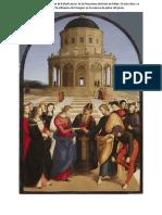 Los desposorios de la Virgen de Rafael Sanzio