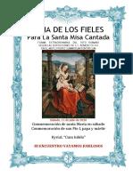 Santa María en Sábado. Conmemoración de san Pio I. Guía del los fieles para la santa misa cantada. Kyrial CUM IUBILO