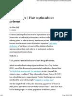 Five Myths About Prisons