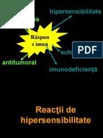 Curs 7 - reactii de hipersensibilitate