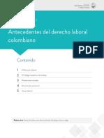 ANTECEDENTES DEL DERECHO LABORAL COLOMBIANO