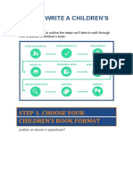 Children's book structure & template
