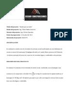 ACTA DE CONSTITUCIÓN DE PROYECTO