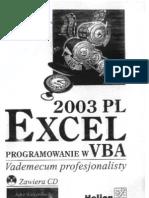 Helion-John Walkenbach-Excel2003PL Programowanie W VBA Vademecum net