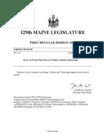 Maine 129 - SP 275 Item 1